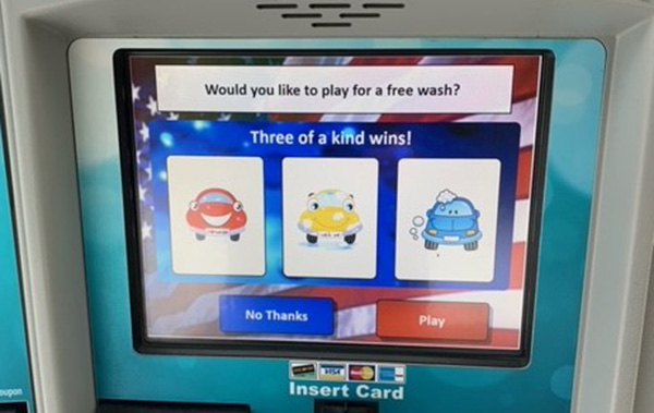 Play to Win a Free Car Wash!